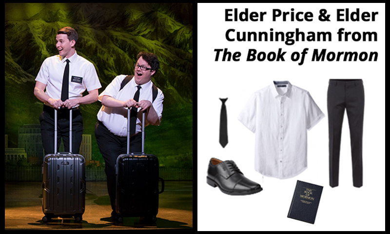 Elder Price and Elder Cunningham from The Book of Mormon