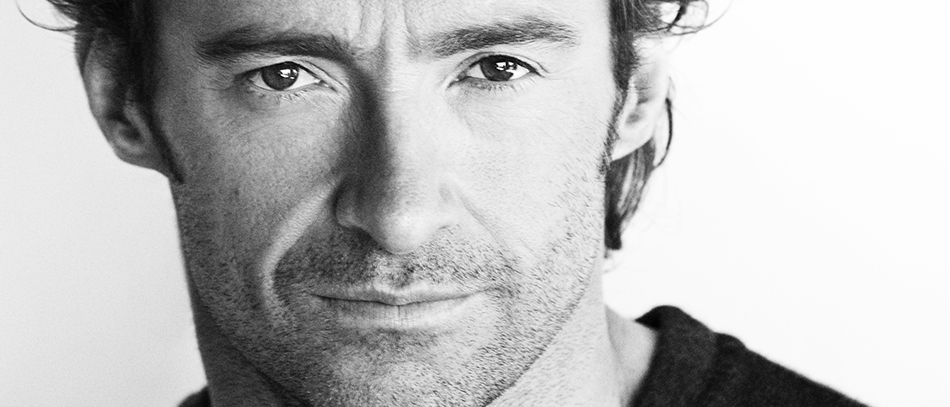 A head shot of Hugh Jackman