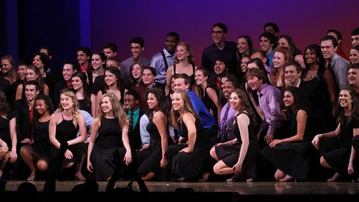 Students participating in the annual competition The Jimmy Awards