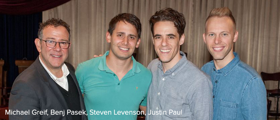 Micahel Greif, Benj Pasek, Steven Levenson, and Justin Paul for the Broadway musical Dear Evan Hansen