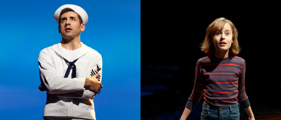 Tony Yazbek in On The Town and Sydney Lucas in Fun Home