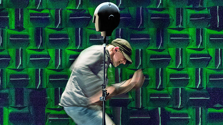 Simon McBurney in The Encounter on Broadway