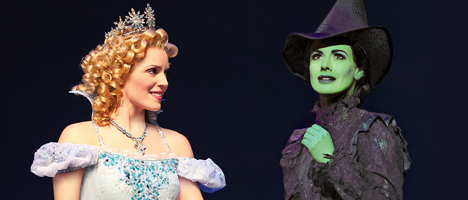 Glinda and Elphaba from Wicked on Broadway