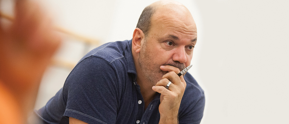 Casey Nicholaw directing Disney's Aladdin the Musical on Broadway