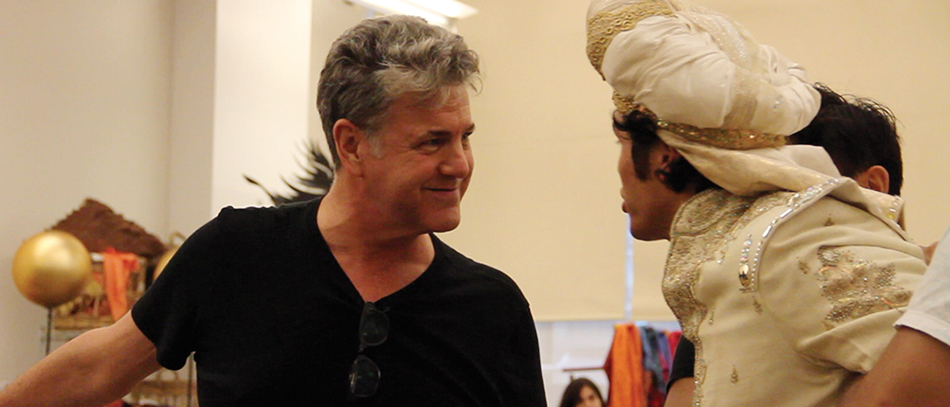 The cast of Aladdin the musical in rehearsals