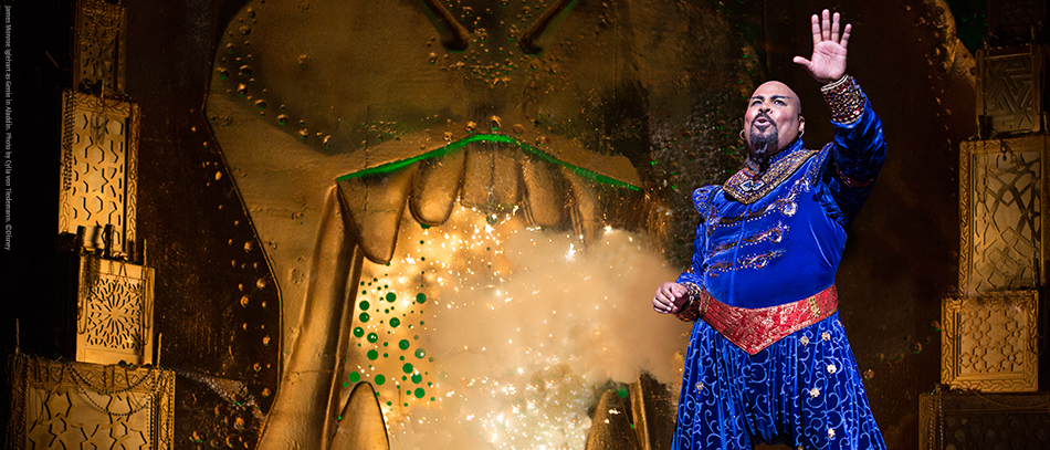 James Monroe Iglehart in Disney's Aladdin the Musical on Broadway