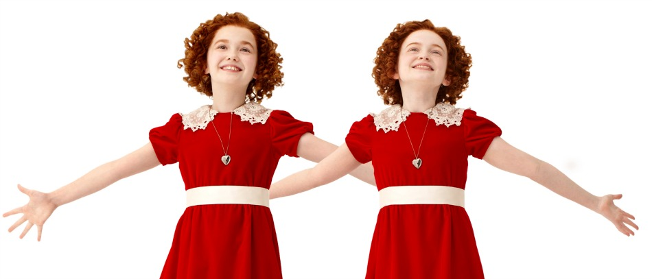 The stars of Annie on Broadway