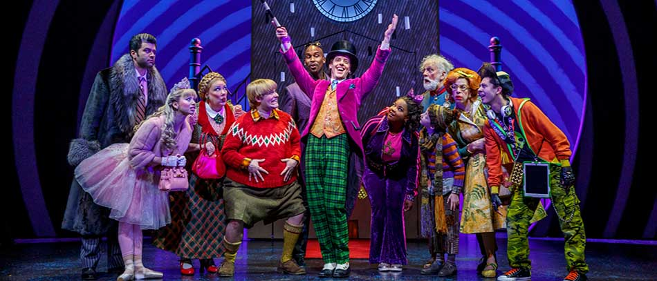 The Broadway company of Charlie and the Chocolate Factory
