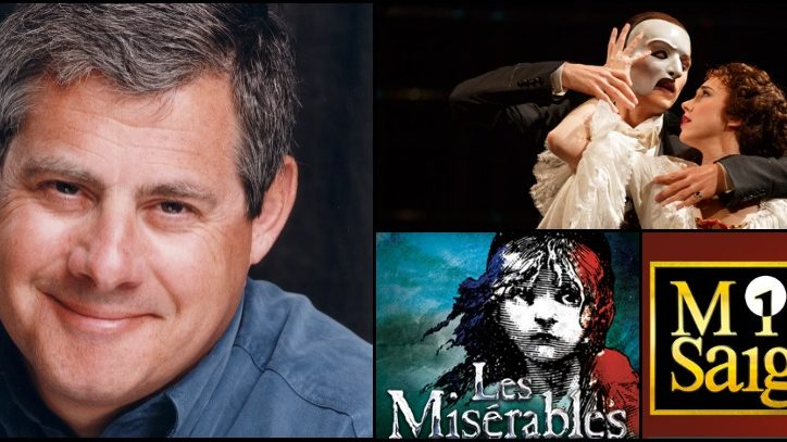 Cameron Mackintosh's headshot and production photos from Phantom of the Opera
