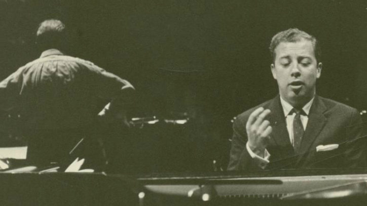 Cy Coleman performing at the piano