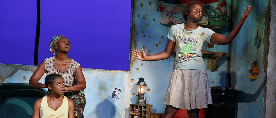 Lupita Nyong'o and the Broadway company of Eclipsed