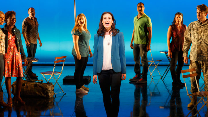Idina Menzel and the Broadway company of If/Then