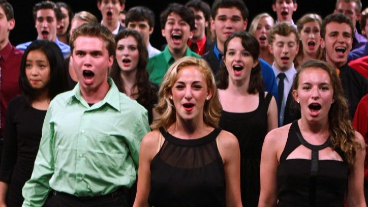 Students participating in the annual Jimmy Awards