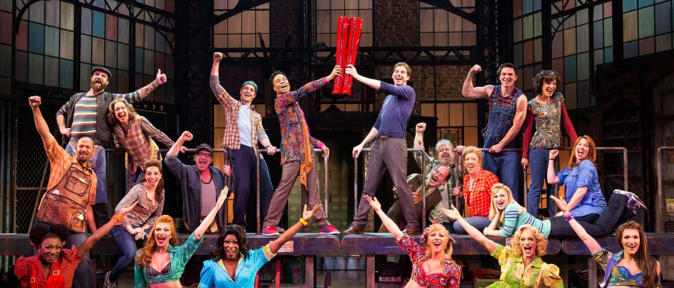 The Broadway company of Kinky Boots