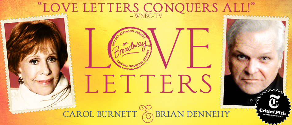 Carol Burnett and Brian Dennehy in Love Letters on Broadway