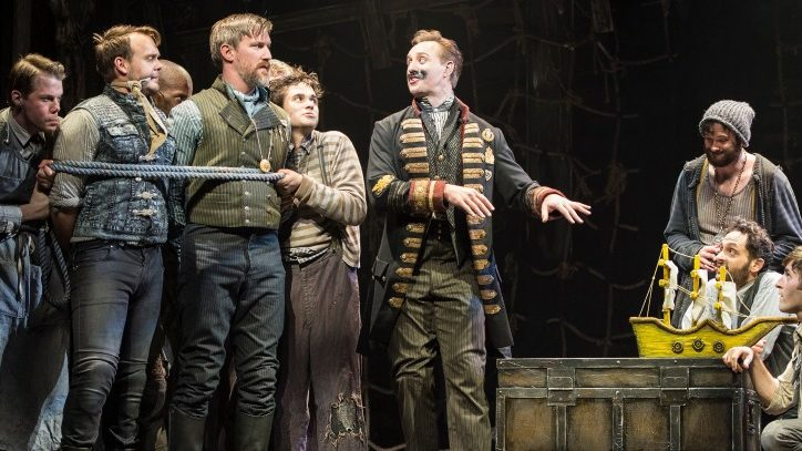 The Broadway company of Peter and the Starcatcher