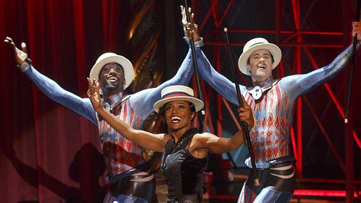 Patina Miller and the Broadway company of Pippin