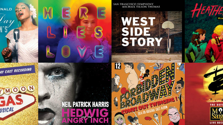 Cast album covers for Broadway musicals