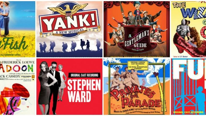 The cast album covers for new musicals