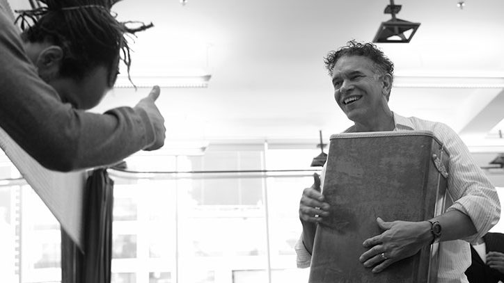 A photo of Brian Stokes Mitchell in rehearsal for Shuffle Along on Broadway