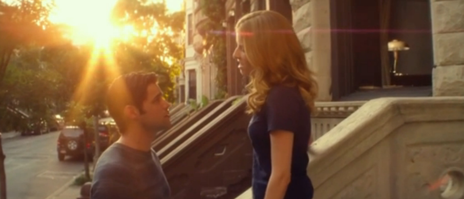A screenshot from the trailer for The Last Five Years the movie