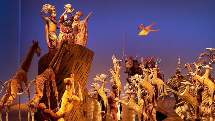 The Broadway company of Disney's The Lion King