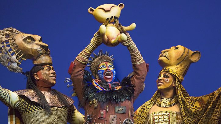The Broadway company of The Lion King