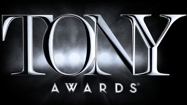 The logo for the Tony Awards in black and white