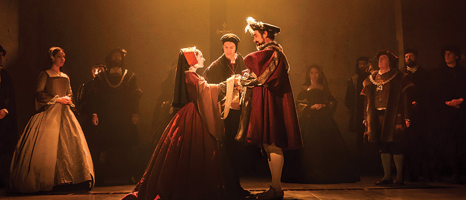 The Broadway company of Wolf Hall