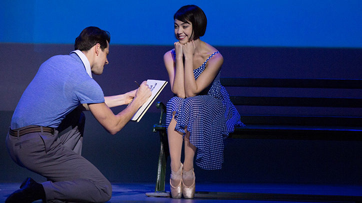 A production photo from An American in Paris on Broadway