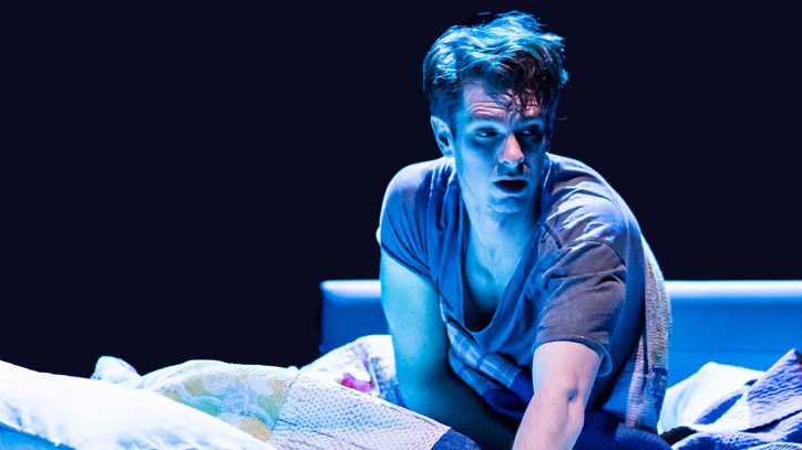Andrew Garfield in the London production of Angels in America
