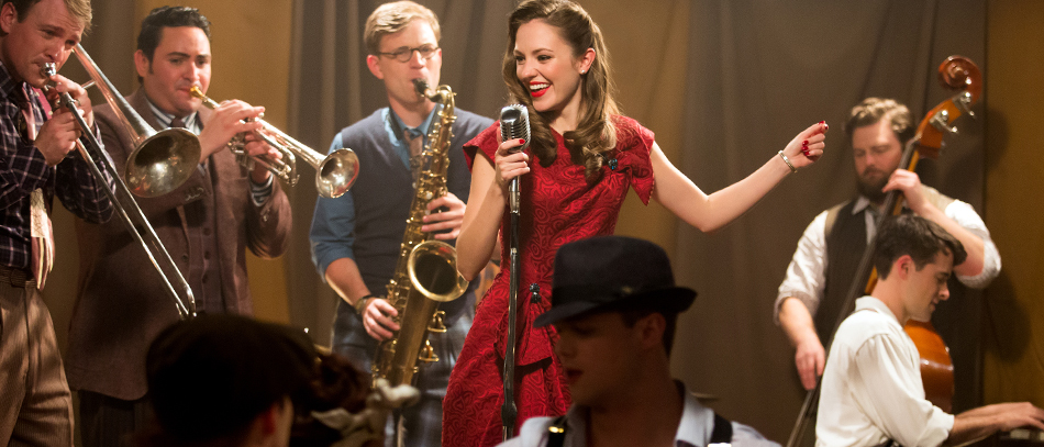 Laura Osnes and the Company of the Broadway musical Bandstand