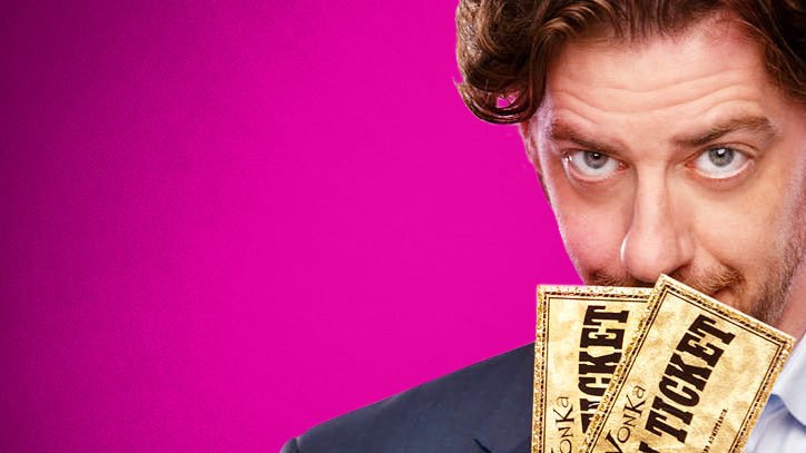 Christian Borle holds two golden tickets for the Broadway production of Charlie and the Chocolate Factory