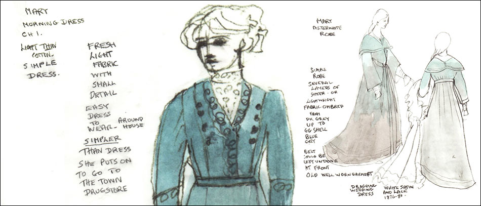 A costume Rendering for a Broadway production