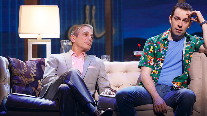 Tony Danza and Rob McClure in Honeymoon in Vegas the musical