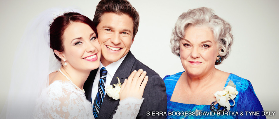 Sierra Boggess, David Burtka, and Tyne Daly in It Shoulda Been You