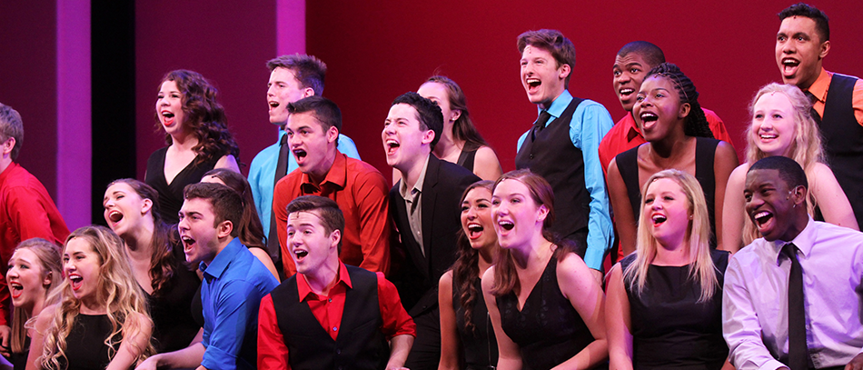 Students performing in the Jimmy Awards
