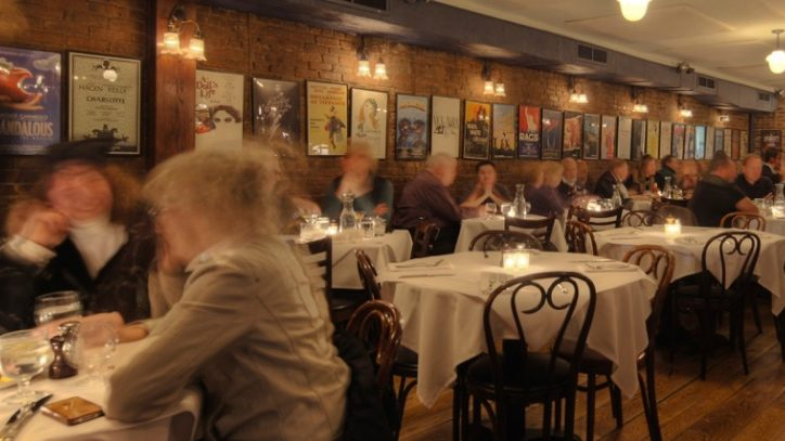An interior photo of Joe Allen the Restaurant in New York City
