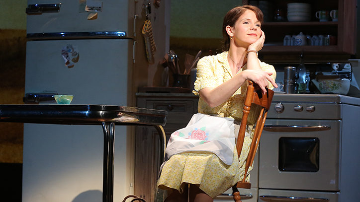 Kelli O'Hara on stage in Bridges of Madison County