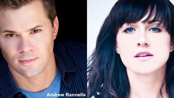 Headshots of Andrew Rannells and Lena Hall