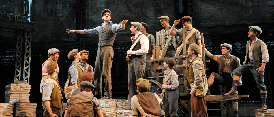 The Broadway company of Disney's Newsies
