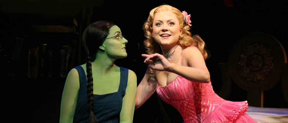Elphaba and Glinda in the Broadway musical Wicked