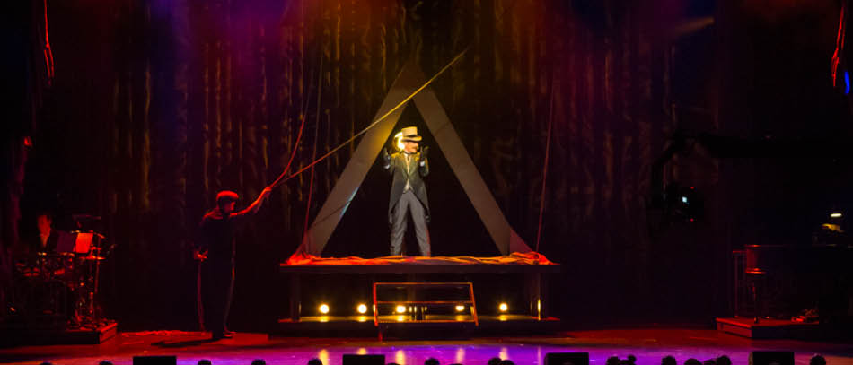 A production photo from The Illusionists on Broadway