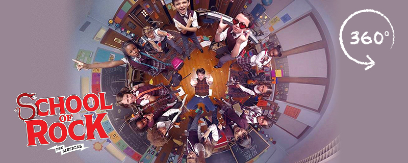 A 360 degree photo from School of Rock the musical