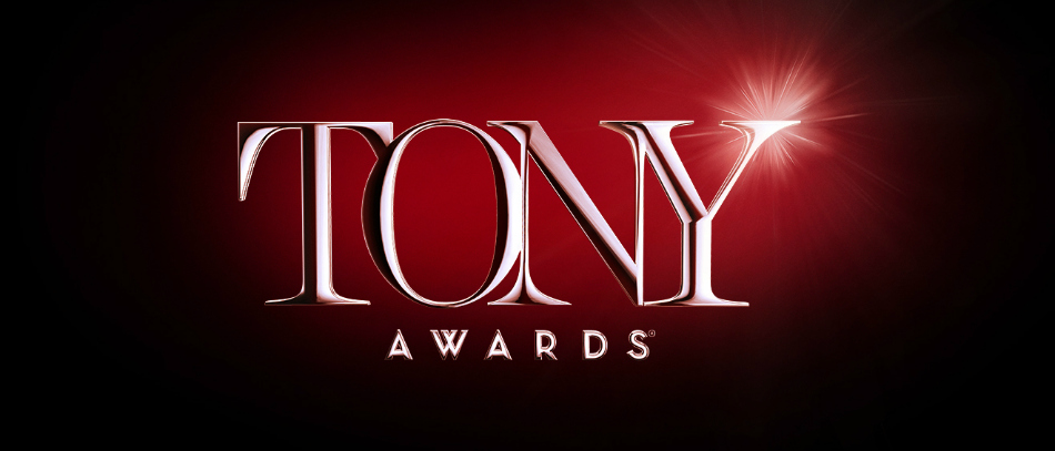 The Tony Awards logo on a red background