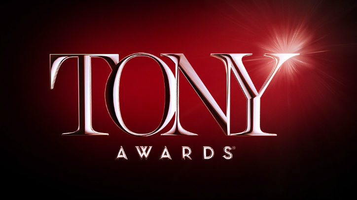 The Tony Awards logo over a red background