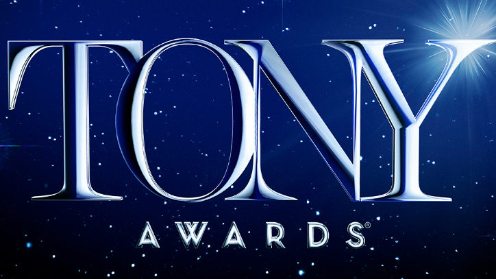 The Tony Awards logo over a starry background