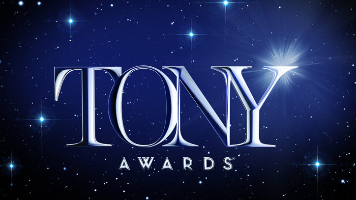 The logo for The Tony Awards on a starry background