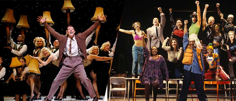 Production photos from A Christmas Story and Rent on Broadway
