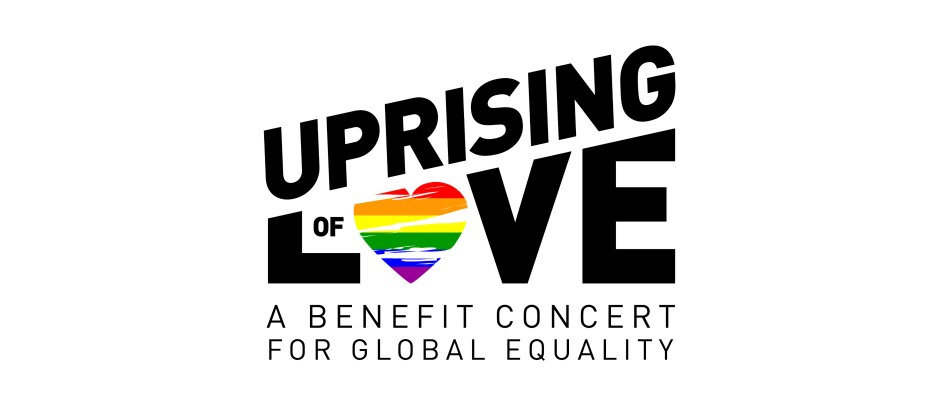 The logo for Uprising of Love, a benefit concert for global equality